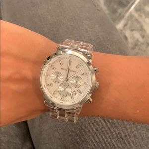 Stainless steel 111008 MK clear watch